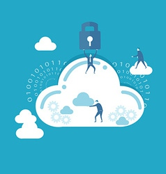Businessman and cloud computing vector