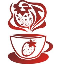 Fruit tea vector