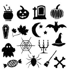 Doodle halloween images vector