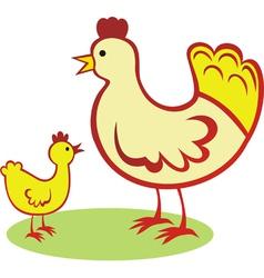 Cock chicken vector