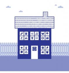 Binary house vector