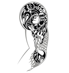 Tribal arm tattoo vector