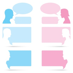 Man and woman bubble talk vector