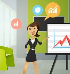 Business women in an office vector