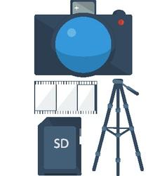 A set of photos vector