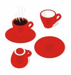 Espresso cups vector