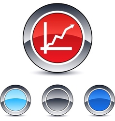 Positive trend round button vector