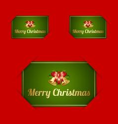 Merry christmas card holders vector