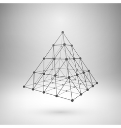 Wireframe mesh polygonal pyramid vector