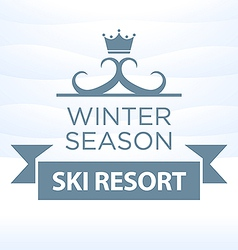 Logotype winter season ski resort on snow vector