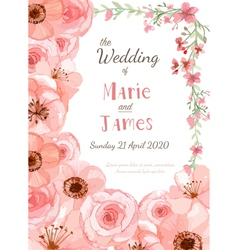 Flower invitation card vector