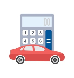 Auto loan calculator vector