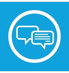 Chatting sign icon vector