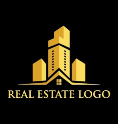 Logo real estate construction vector