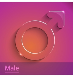 Male sign glass icon vector