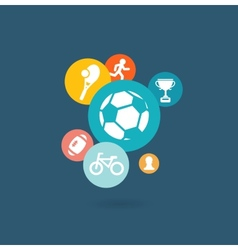 Sport composition of icons vector