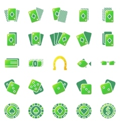 Poker or casino icons set vector