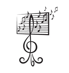 Music stand vector