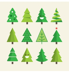 Christmas tree set vector