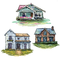Set of private houses vector