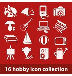 Hobby icon collection vector