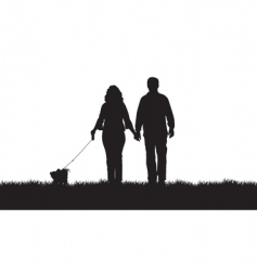 Dog walkers vector