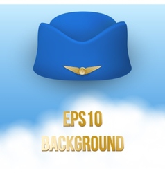 Stewardess hat of air hostess uniform vector