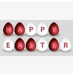 Happy easter from red and white eggs eps10 vector