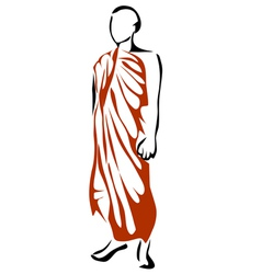 Shwedagon monk vector