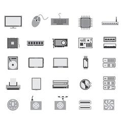 Gray computer device icon design vector