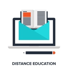 Distance education vector