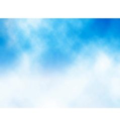 Cloud on blue vector