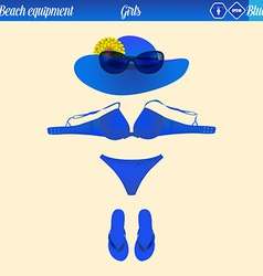 Beach equipment vector