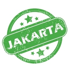 Jakarta green stamp vector