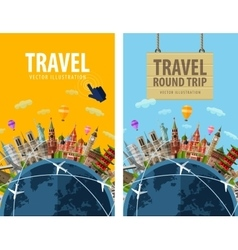 Travel journey trip logo design template vector