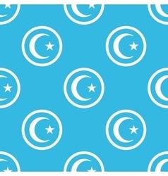 Turkey symbol sign blue pattern vector