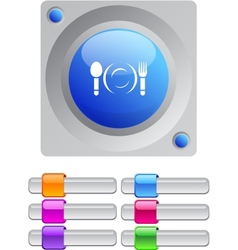 Dinner color round button vector