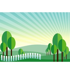 Green land mountain background vector
