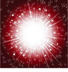 Christmas starburst background vector