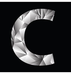 Crystal letter c vector