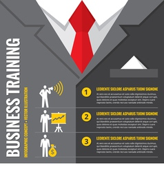 Business training infographic vector