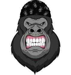 Monkey biker vector