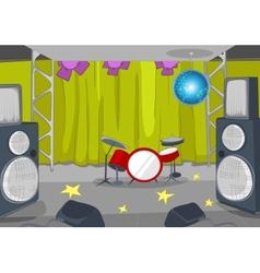 Rockroll stage cartoon vector