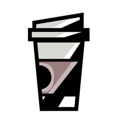 A coffee is placed vector