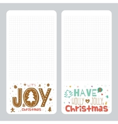 Christmas design for notebook diary organizers vector