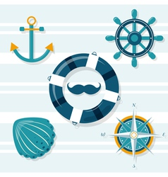 Set of five nautical vector