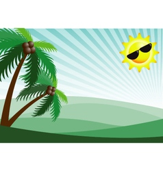 Summer holiday sunshine background vector