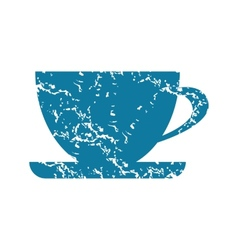 Cup grunge icon vector