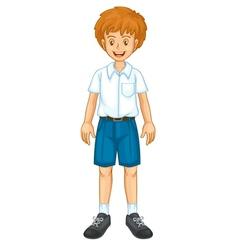 Boy in uniform vector