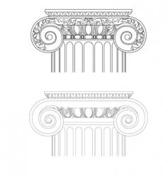 Vintage architecture vector